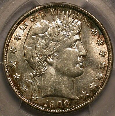 1906-D Barber Half Dollar PCGS & CAC AU-55 Nicely toned!