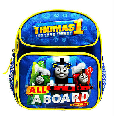"THOMAS TRAIN & FRIENDS TANK ENGINE ALL ABOARD MINI TODDLER 10"" BACKPACK Bag NEW"