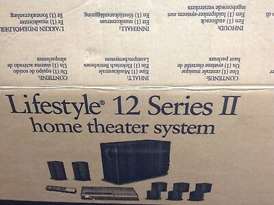 Bose lifestyle 12  speakers are not included