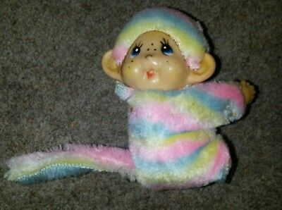 Vintage chic a boo/ monchichi clip on monkey 1980's