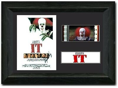 STEPHEN KING'S IT 35 mm Framed Film Cell Display Signed Stunning Clown
