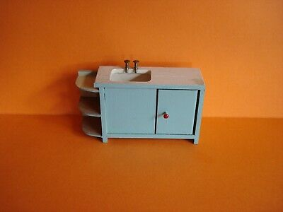Vintage Dolls House - Twiggs Wooden Sink Unit With Shelves & Cupboard