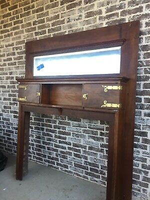 Antique Fireplace Surround / Architectural Salvage, Solid Walnut