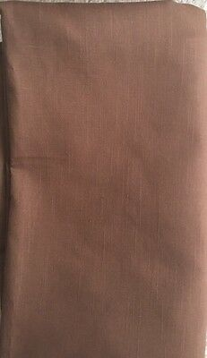 "Solid Brown Tablecloth 60""x100"" Rectangular"