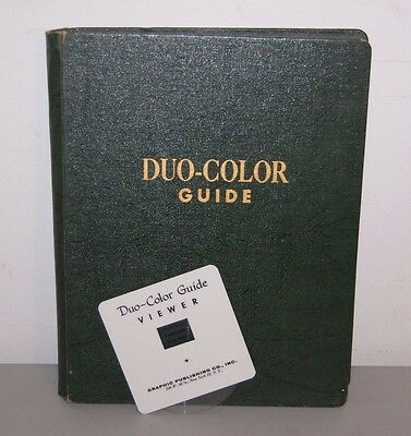 Duo Color Guide Book Paint Mixing Charts with Viewer Graphic Publishing Co 1955