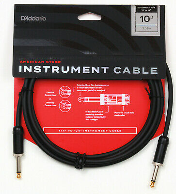 Planet Waves Pw-Amsg-10  American Stage 10' Instrument Cable, New, Free Us Ship