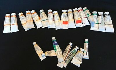 Winsor & Newton Watercolor Paint Lot 2 - 16 Total, Near Full Plus 7 FREE Smalls