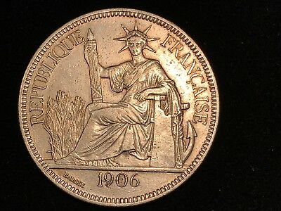 T2: World Coin French Indochina 1906 Piastre