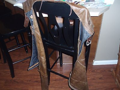 Leather Chaps For Motorcycle Or What Ever You Like Used But Still Nice Harley Pa