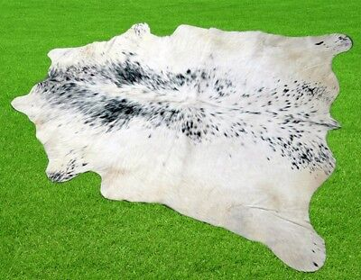 "New Cowhide Rugs Area Cow Skin Leather 13.44 sq.feet (45""x43"") Cow hide A-403"