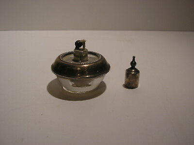 Vintage Frank Whiting Sterling Silver Unused Glass Table Lighter