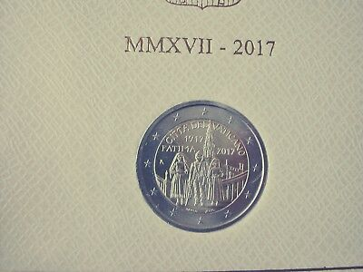 NEW Vatican 2 euro 2017 bimetal Fatima Apparitions BU in Folder - ready to ship
