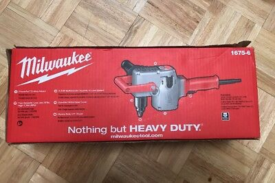 "Milwaukee 1675-6 1/2""  Corded Right Angle Drill Hole Hawg Heavy-Duty Tool 7.5Amp"