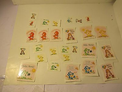 Lot of 27 Vintage Care Bear Ceramic Coffee Cup Decals