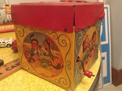 Vintage Mattel Toy Jack In The Box