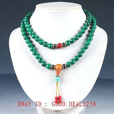 100% Natural Jade & Beeswax Handwork Carved Decoration Necklaces XL082