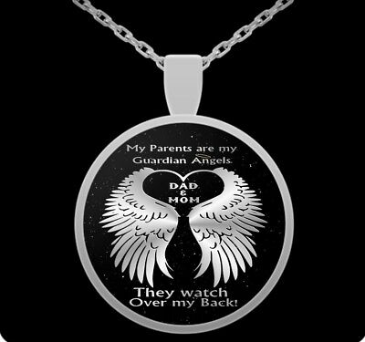 bbb1305097 My parents are my guardian angels - mom and dad watch over me - pendant  necklace