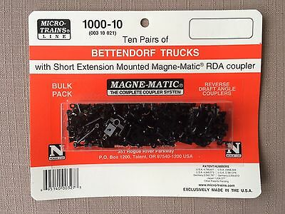 N Scale Micro Trains MTL 10 pair 1000-10 (MINT) Retail 55.95 FREE SHIPPING