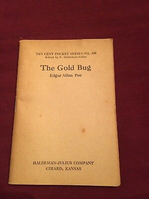 The Gold Bug Edgar Allan Poe 1843 Pocket Book Series 290 Girard Kansas N Mint !!