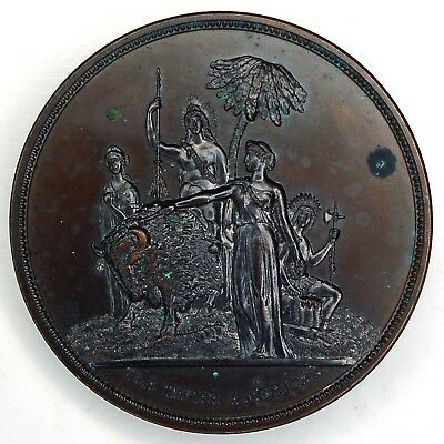 1885-86 North Central And South American Exposition large bronze award medal