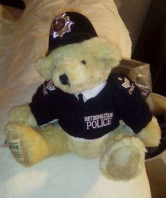 Police Teddy Bear In British Metropolitan Police Uniform New With Tags
