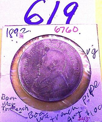 1892   2 1/2 SHILLINGS, ZAR South Africa, low mintage,