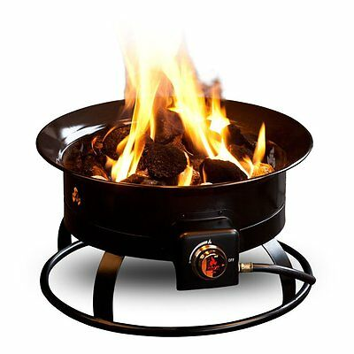 Outland Firebowl Deluxe Portable Propane Fire Pit Outdoor Cooking Eating Firepit
