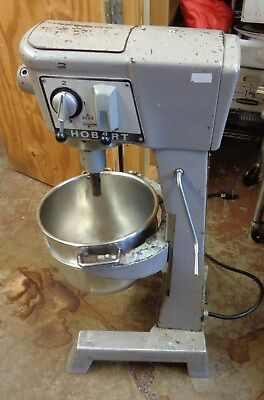HOBART 30 QT MIXER, Model D-300, With Hook, Flat Beater, 3 Ph  LOCAL PICKUP ONLY