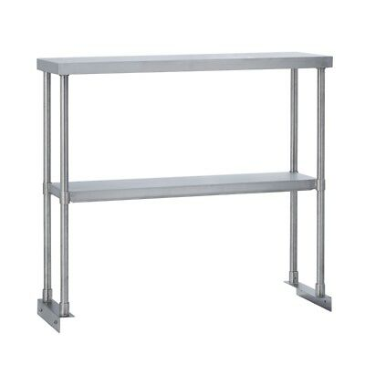 Commercial Kitchen Stainless Steel Double Overshelf for Work Tables 12X84