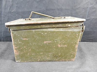 Ammo Can Box US Army Military M2A1 50 Cal  Ammunition Metal Storage  5.56MM? VTG