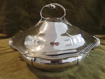 Gorgeous 1900 french sterling silver covered vegetable dish rococo st Odiot