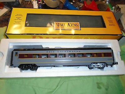 Rail king MTH Erie Lackawanna 60' streamlined coach 30-67640 new in box