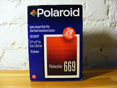 POLAROID 669 pack film EXPIRED 09/2001 - Unopened 20 Photos AS-IS