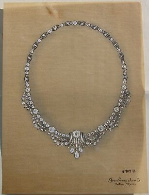 Shreve Crump Low One of a Kind Illustrations 1947 Jewelry Art Prominent Customer