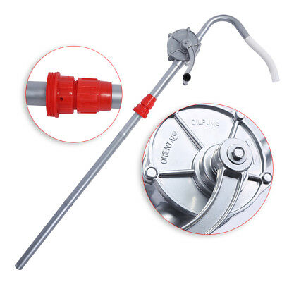 Manual Hand Crank Rotary Oil Fuel Drum Barrel Pump Transfer Suction Aluminum USA