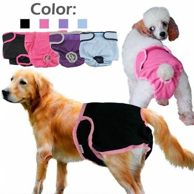 Fashion Reuseable Female Pet Dog Pants Pads Sanitary Nappy Diaper S-XL GIFT