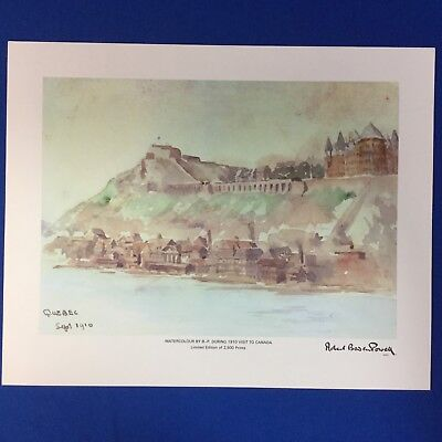 "Boy Scout Print Baden Powell Quebec Limited Edition Watercolour 10"" x 12"""
