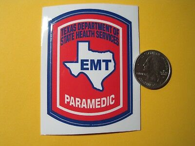 Texas Paramedic Decal Small Size Full Color New Look And Buy Now!*