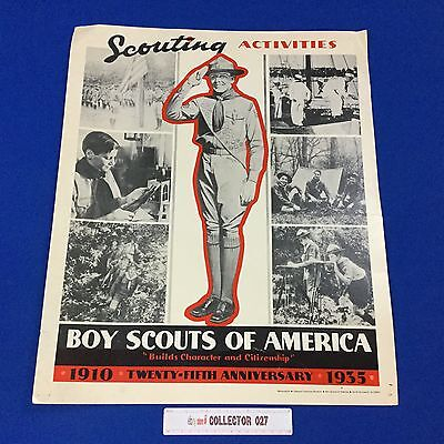 "Boy Scout Poster 25th Anniversary 21"" x 17.5"" on cardboard"
