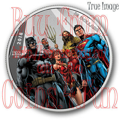 2018 Justice League™ World's Greatest Super Heroes $30 Pure Silver Coin by Fabok