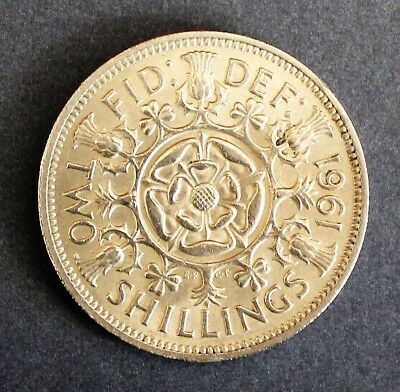 1961 UK Two Shilling (Florin) Good Example Very Collectable