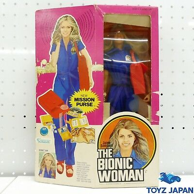 FO775 KENNER Jaime Sommers THE BIONIC WOMAN Doll Figure New Mission Purse Figure
