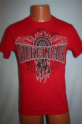 NICKELBACK 2009 Dark Horse Concert Tour T-SHIRT Small RED Canadian Rock