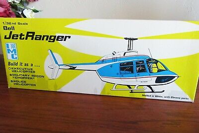 Bell Jet Ranger Helicopter, Executive, Military,  Or Police Model Kit, 1/32 Scal