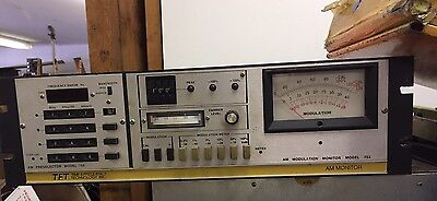 TFT 753 Rackmount broadcast radio AM Modulation Monitor +754 preselector panel