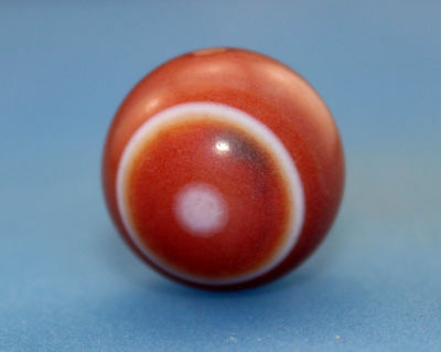 18*18 mm Antique  Dzi  Agate  old  2  eyes Bead from Tibet ***Free shipping***