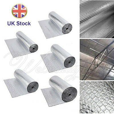 Double Aluminum Bubble Insulation Foil Loft 1BD/A loft Wall Floor Caravan Home