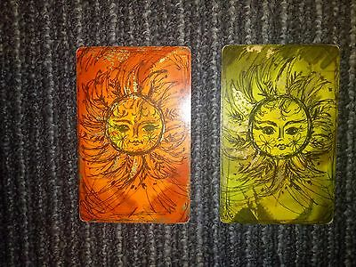 Lot Of 2 Swap Playing Cards - Sun
