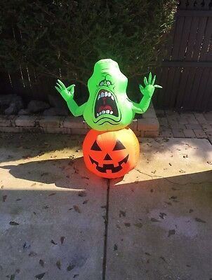 Ghostbusters Slimer Halloween Inflatable Halloween Blowup Gemmy
