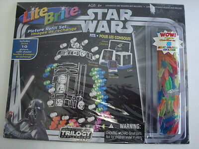 New Star Wars Lite Brite Refills With Pegs The Original Trilogy Collection